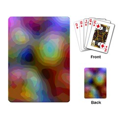 A Mix Of Colors In An Abstract Blend For A Background Playing Cards Single Design