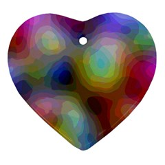 A Mix Of Colors In An Abstract Blend For A Background Heart Ornament (two Sides)