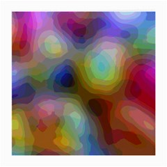A Mix Of Colors In An Abstract Blend For A Background Medium Glasses Cloth by Jojostore