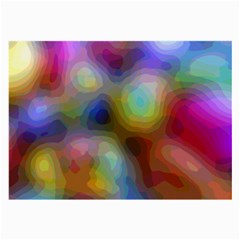 A Mix Of Colors In An Abstract Blend For A Background Large Glasses Cloth by Jojostore