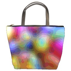 A Mix Of Colors In An Abstract Blend For A Background Bucket Bag by Jojostore