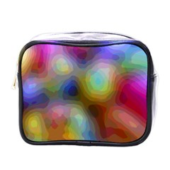 A Mix Of Colors In An Abstract Blend For A Background Mini Toiletries Bag (one Side) by Jojostore