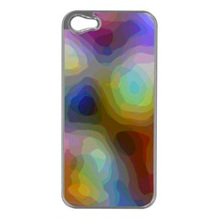 A Mix Of Colors In An Abstract Blend For A Background Apple Iphone 5 Case (silver) by Jojostore