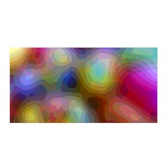 A Mix Of Colors In An Abstract Blend For A Background Satin Wrap by Jojostore