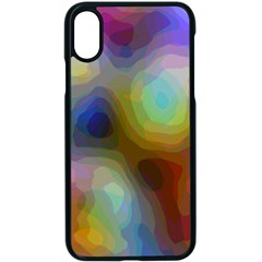 A Mix Of Colors In An Abstract Blend For A Background Apple Iphone X Seamless Case (black) by Jojostore