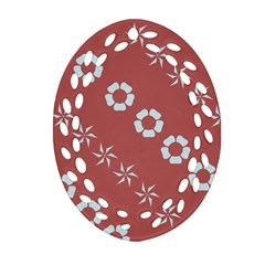 Abstract Pattern Background Wallpaper In Pastel Shapes Oval Filigree Ornament (two Sides)
