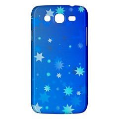 Blue Hot Pink Pattern Blue Star Background Samsung Galaxy Mega 5 8 I9152 Hardshell Case  by Jojostore