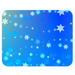 Blue Hot Pink Pattern Blue Star Background Double Sided Flano Blanket (medium)  by Jojostore