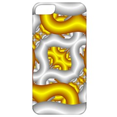 Fractal Background With Golden And Silver Pipes Apple Iphone 5 Classic Hardshell Case