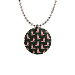 Dog Animal Pattern 1  Button Necklace