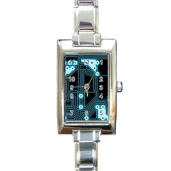 A Completely Seamless Background Design Circuitry Rectangle Italian Charm Watch by Jojostore