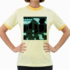 A Completely Seamless Background Design Circuitry Women s Fitted Ringer T Shirt