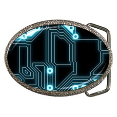 A Completely Seamless Background Design Circuitry Belt Buckles by Jojostore