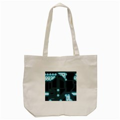 A Completely Seamless Background Design Circuitry Tote Bag (cream) by Jojostore