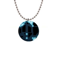 A Completely Seamless Background Design Circuitry 1  Button Necklace