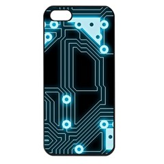 A Completely Seamless Background Design Circuitry Apple Iphone 5 Seamless Case (black)