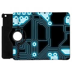 A Completely Seamless Background Design Circuitry Apple Ipad Mini Flip 360 Case by Jojostore