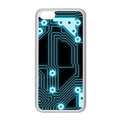 A Completely Seamless Background Design Circuitry Apple Iphone 5c Seamless Case (white)