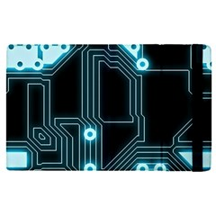 A Completely Seamless Background Design Circuitry Apple Ipad Pro 12 9   Flip Case