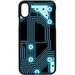 A Completely Seamless Background Design Circuitry Apple Iphone X Seamless Case (black)