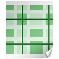 Abstract Green Squares Background Canvas 16  X 20
