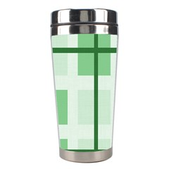 Abstract Green Squares Background Stainless Steel Travel Tumblers