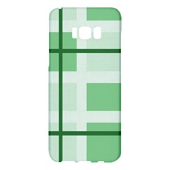 Abstract Green Squares Background Samsung Galaxy S8 Plus Hardshell Case