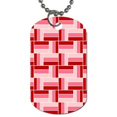 Pink Red Burgundy Pattern Stripes Dog Tag (one Side)