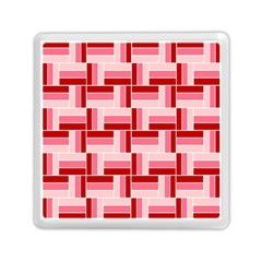 Pink Red Burgundy Pattern Stripes Memory Card Reader (square)