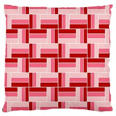 Pink Red Burgundy Pattern Stripes Large Cushion Case (two Sides)