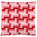 Pink Red Burgundy Pattern Stripes Large Cushion Case (Two Sides) Front