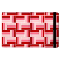 Pink Red Burgundy Pattern Stripes Apple Ipad 2 Flip Case by Jojostore
