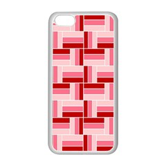 Pink Red Burgundy Pattern Stripes Apple Iphone 5c Seamless Case (white) by Jojostore