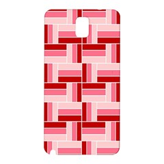 Pink Red Burgundy Pattern Stripes Samsung Galaxy Note 3 N9005 Hardshell Back Case by Jojostore