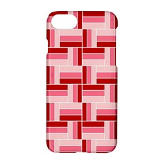 Pink Red Burgundy Pattern Stripes Apple Iphone 8 Hardshell Case