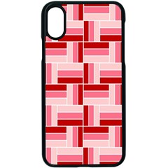 Pink Red Burgundy Pattern Stripes Apple Iphone X Seamless Case (black)