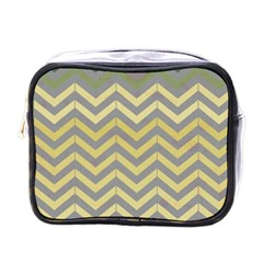Abstract Vintage Lines Mini Toiletries Bag (one Side)