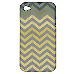 Abstract Vintage Lines Apple Iphone 4/4s Hardshell Case (pc+silicone)