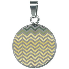Abstract Vintage Lines 20mm Round Necklace