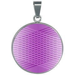 Abstract Lines Background 30mm Round Necklace by Jojostore
