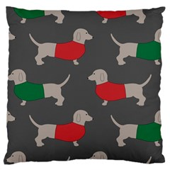 Cute Dachshund Dogs Wearing Jumpers Wallpaper Pattern Background Standard Flano Cushion Case (one Side) by Jojostore