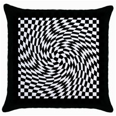 Whirl Throw Pillow Case (black) by Jojostore