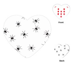 Animals Arachnophobia Seamless Playing Cards (heart)