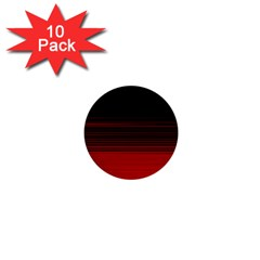 Abstract Of Red Horizontal Lines 1  Mini Buttons (10 Pack)
