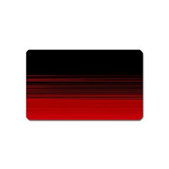 Abstract Of Red Horizontal Lines Magnet (name Card)