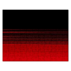 Abstract Of Red Horizontal Lines Rectangular Jigsaw Puzzl