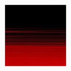 Abstract Of Red Horizontal Lines Medium Glasses Cloth by Jojostore