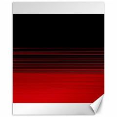 Abstract Of Red Horizontal Lines Canvas 11  X 14