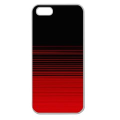 Abstract Of Red Horizontal Lines Apple Seamless Iphone 5 Case (clear) by Jojostore