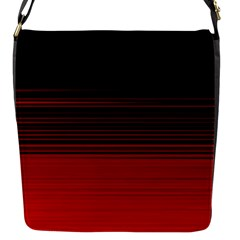 Abstract Of Red Horizontal Lines Flap Closure Messenger Bag (s) by Jojostore